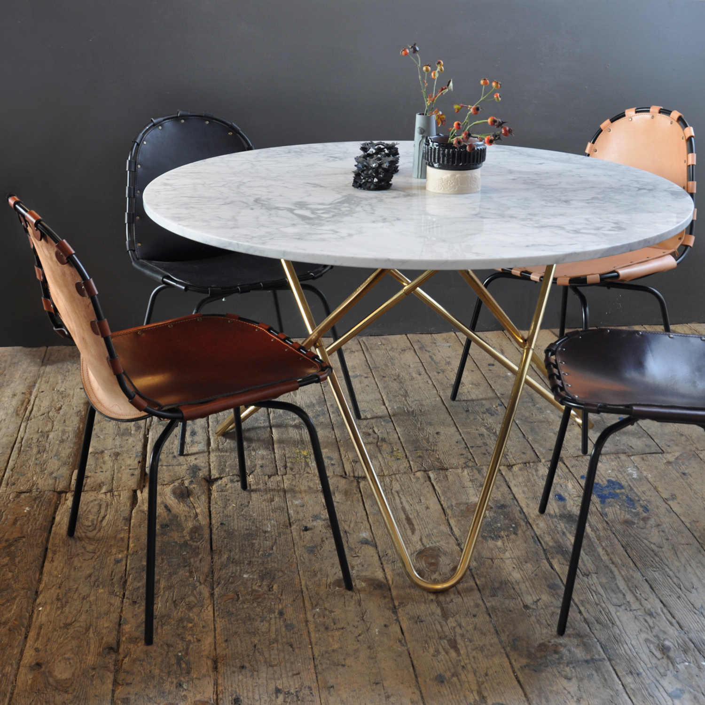 Big o bord, vitmarmor/mässing – ox design – köp online pÃ¥ rum21.se