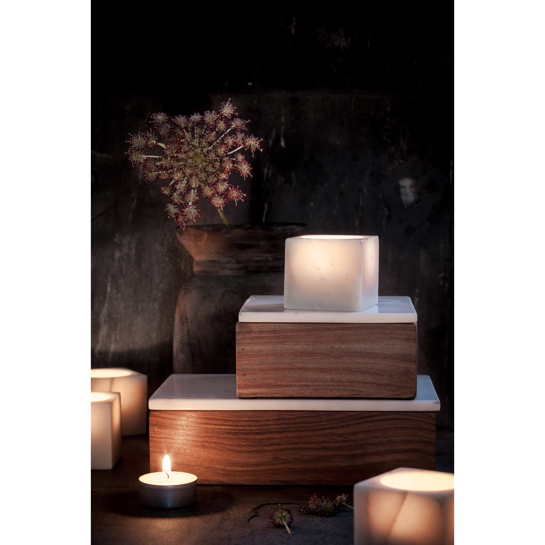 Träbox med lock s, vit marmor/trä – nordstjerne – köp online pÃ¥ ...