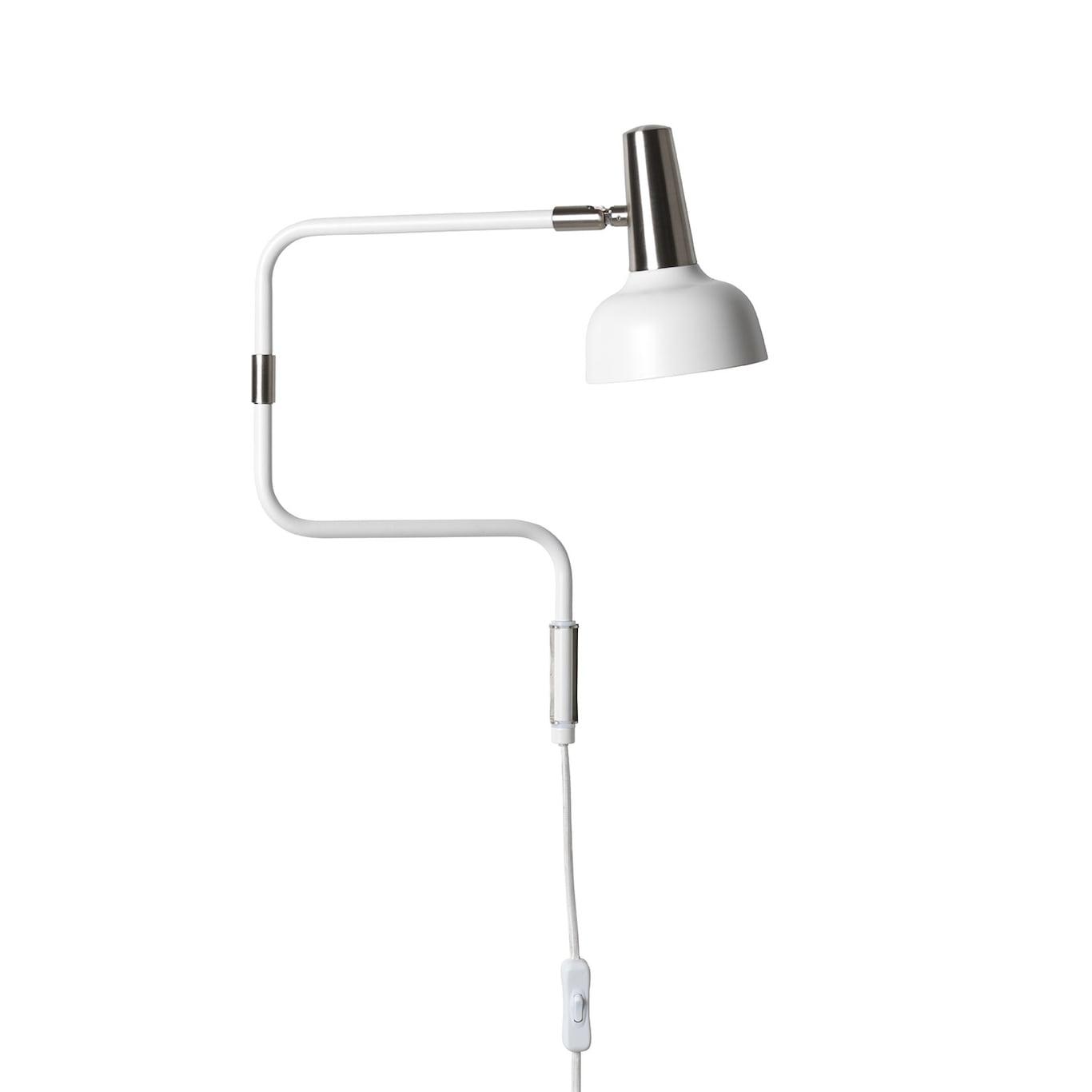 Ray Vägglampa LED, Vit Nickel