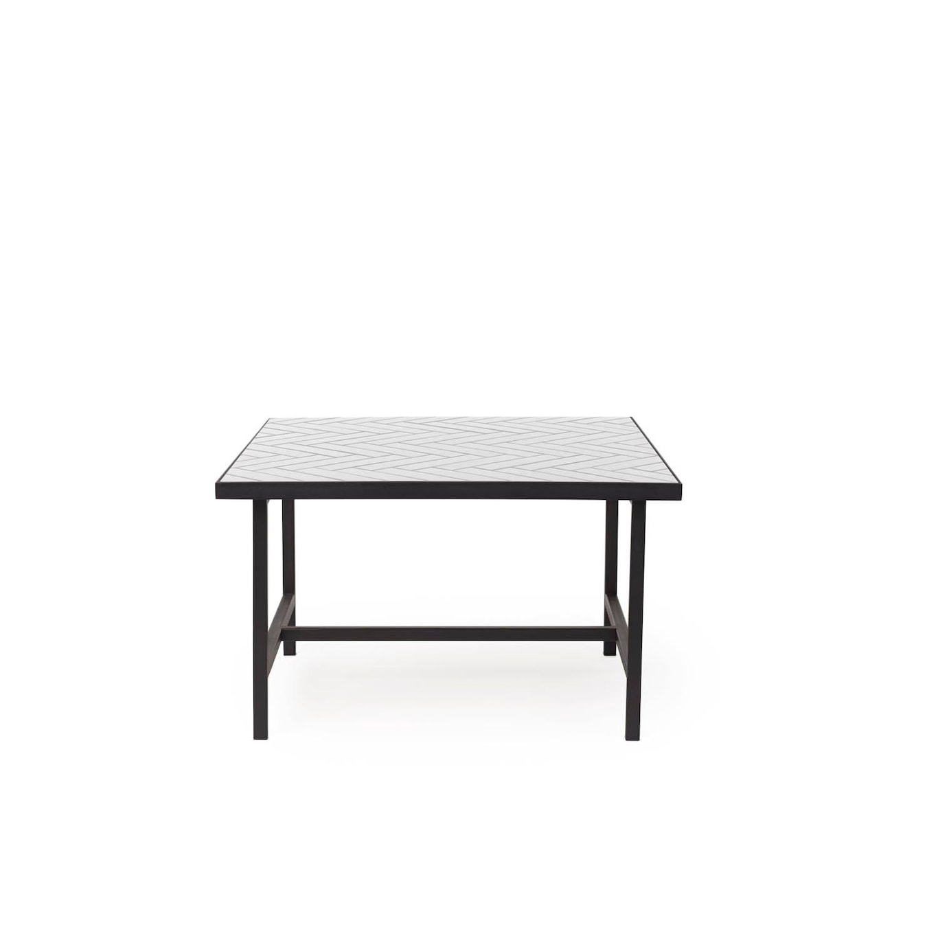 Herringbone Tile Soffbord, Vit Warm Nordic @ Rum21.se